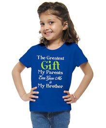 M'Andy The Greatest Gift My Parents Gave Me Is My Brother Print Tee - White