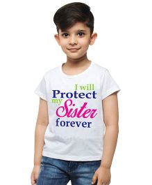 M'Andy I Will Protect My Sister Forever Print Tee - White