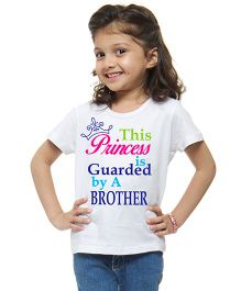 M'Andy This Princess Is Gaurded By A Brother Print Tee - White