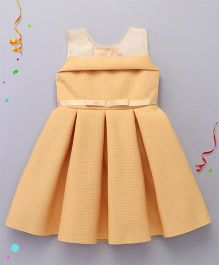 M'PRINCESS Sleeveless Party Wear Dress - Gold