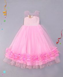 M'PRINCESS Gown With Butterfly Applique - Pink