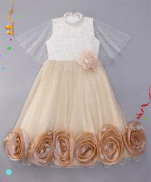 M'PRINCESS Cape Style Gown - Fawn