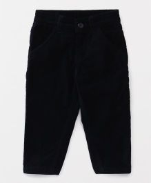 Babyhug Corduroy Trouser With Adjustable Elastic Waist - Navy