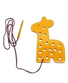 Alpaks Lacing Giraffe Shape Wooden Animal Toy