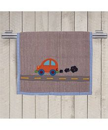 Princess & Her Bunny Embroidered Car Hand Towel - Hazelnut