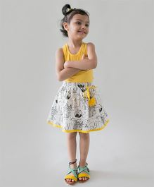Tiber Taber Organic Cotton Color And Wear Doodle Skirt With Fabric Markers - White