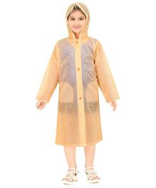 Real Baggy See Through Raincoat - Peach