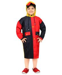 Real Dual Tone Baggy Raincoat - Navy Blue