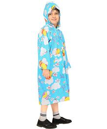 Real Printed Baggy Honey Bee Printed Raincoat - Blue