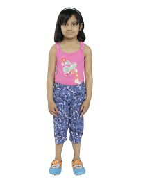 Fablez N Angelz Butterfly Printed Capri - Blue