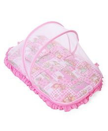Mee Mee Mattress With Pillow And Mosquito Net Animal Print - Pink