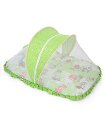 Mee Mee Pink Mattress Set With Mosquito Net Car Print - Green