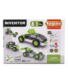 Engino Inventor 4 In 1 Cars Models - Green