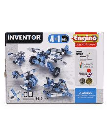 Engino Inventor 4 In 1 Aircrafts Models - Blue