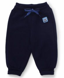 Little Kangaroos Track Pant With Drawstring - Navy Blue