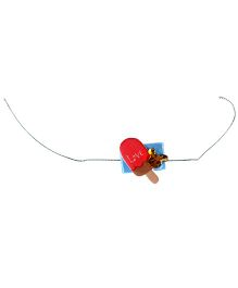Thought Counts Love Candy Rakhi - Red & Blue