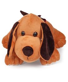 Liviya Lazy Dog Soft Toy Dark Brown - 35 cm