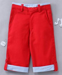 Olele Quarter Pant With Edge Loop - Red