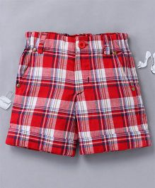 Olele Checked Shorts - Red