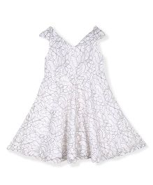 Silverthread Elegant Net Dress - White