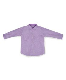Silverthread Smart Full Sleeve Shirt - Light Purple