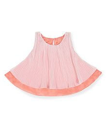 Silverthread Pretty Crinkled Layered Top - Peach