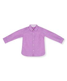 Silverthread Simple & Elegant Shirt - Purple