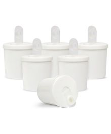 Small Wonder Baby Snack Jar With Dispenser Pack Of 6 - White