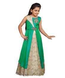 Betty By Tiny Kingdom Sleeveless Classic Evening Gown - Green