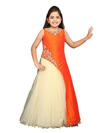 Betty By Tiny Kingdom Sleeveless Embellished Gown - Orange Cream