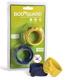 Bodyguard Premium Natural Anti Mosquito Band Pack Of 2 - Blue Yellow
