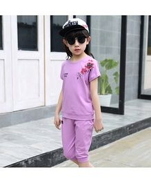 Pre Order - Awabox Sporting Spirit Simple Sleeveless Night Suit - Violet