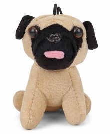 IR Soft Toy Puppy Pug Beige - Height 8.5 cm