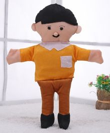 IR Hand Puppet Father Yellow Brown - Height 41.5 cm