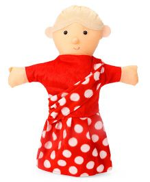 IR Hand Puppet Grandmother Red - 41 cm