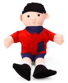 IR Boy Hand Puppet Red Navy - 42 cm