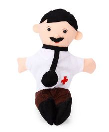 IR Doctor Hand Puppet Brown & White - 40.5 cm