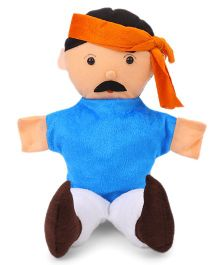 IR Hand Puppet Farmer Toy Blue - Height 38.5 cm