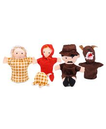 IR Red Riding Hood Hand Puppet Set - Brown Red Yellow