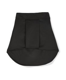 Marshmallow Kids Couture Pleated High Low Skirt - Black