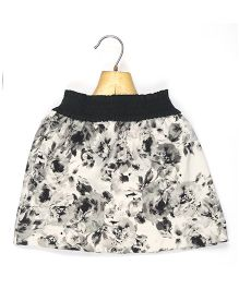 Marshmallow Kids Couture Floral Printed Skirt - Black & White