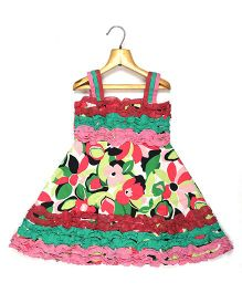Marshmallow Kids Couture Multicolor Strap Dress - Multicolor
