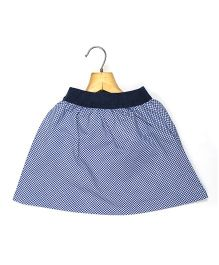 Marshmallow Kids Couture Gingham Checkered Skirt - Blue