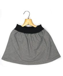 Marshmallow Kids Couture Gingham Checkered Skirt - Black