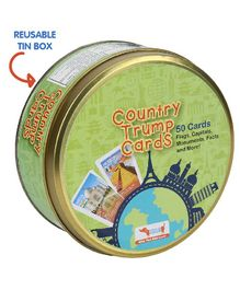 Cocomoco Kids Country Trump Cards Educational Geography Game