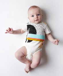Pre Order - Superfie Cute Printed Onesie For Baby - Multicolor