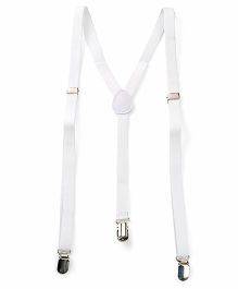 Kid-o-nation Suspenders - White