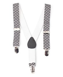 Kid-o-nation Printed Suspenders - Black White