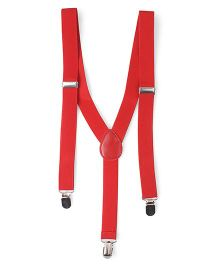 Kid-o-nation Plain Suspenders - Red