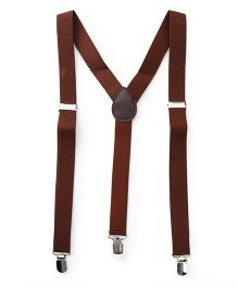 Kid-o-nation Plain Suspenders - Brown